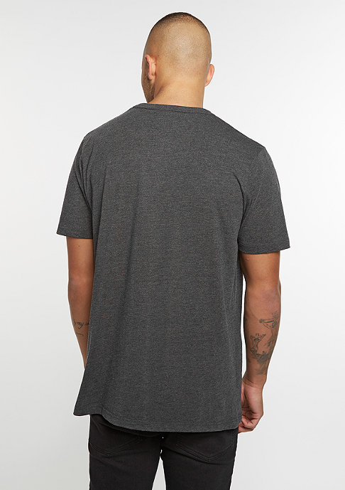 SNIPES T-Shirt Chest Logo charcoal/white embroidery