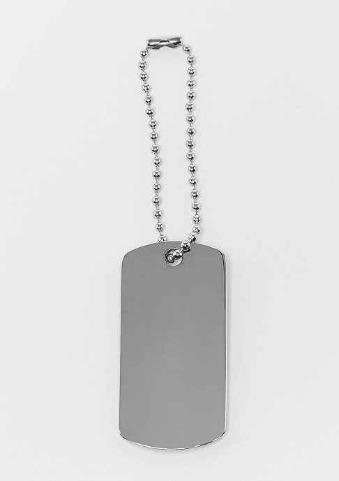 SNIPES Dog Tag Keychain silver