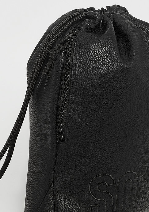 SNIPES Fake Leather Gymbag black
