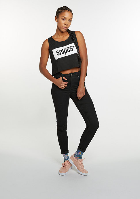 SNIPES Tanktop Mesh Logo black/white