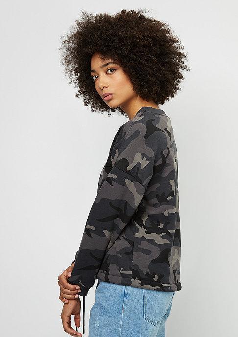SNIPES Sweatshirt Oversized AOP camo