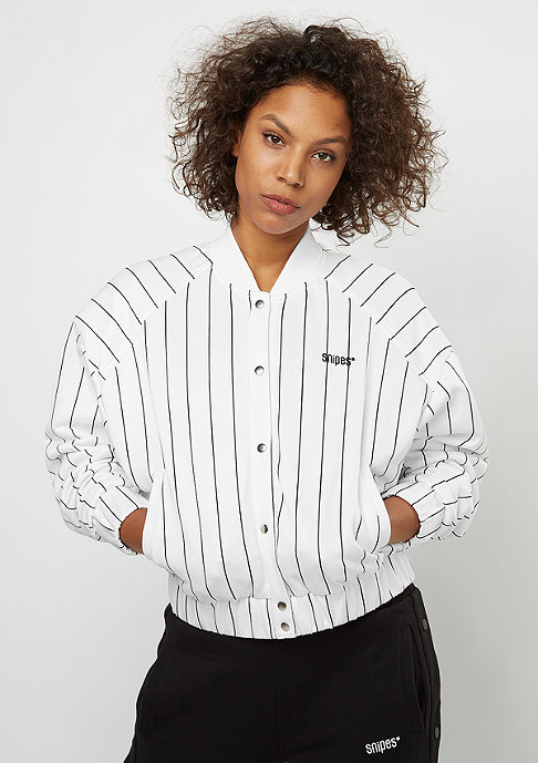 SNIPES Trainingsjacke Pinstripe Blouson white/black