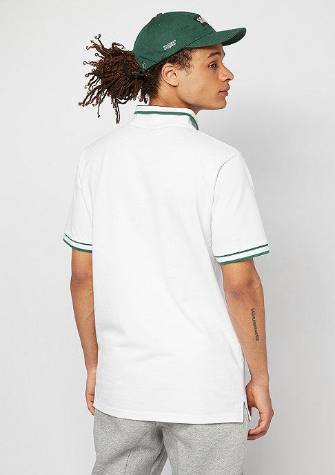 SNIPES Polo Basic white/evergreen