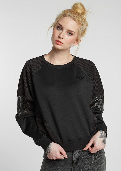 SNIPES Sweatshirt Short Tech black/black