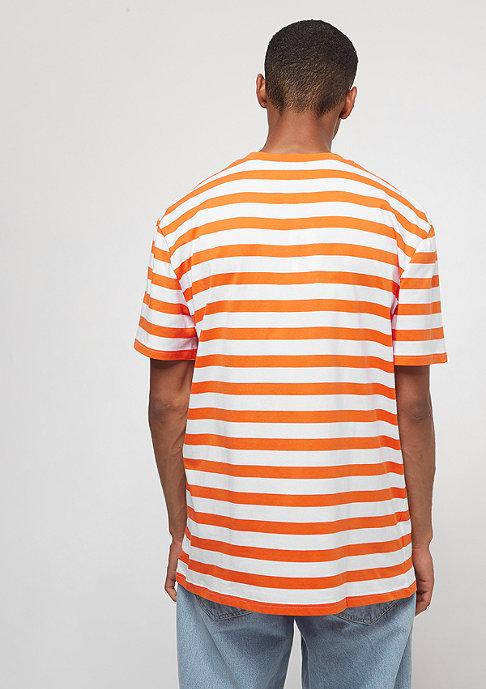 SNIPES Stripe Tee orange/white