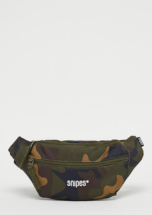 SNIPES Zip Waist Bag camo