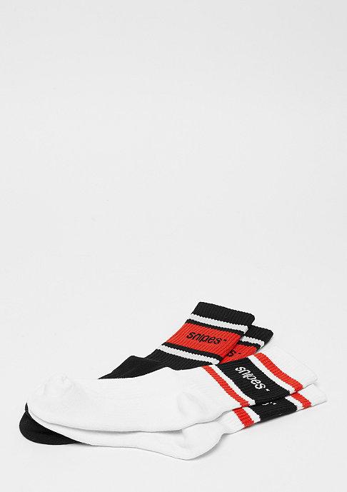 SNIPES 2er Crew white/black/red