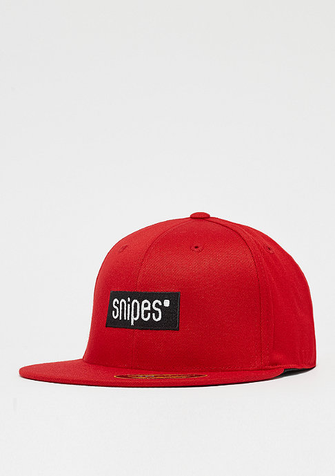 SNIPES Box Logo Fitted red