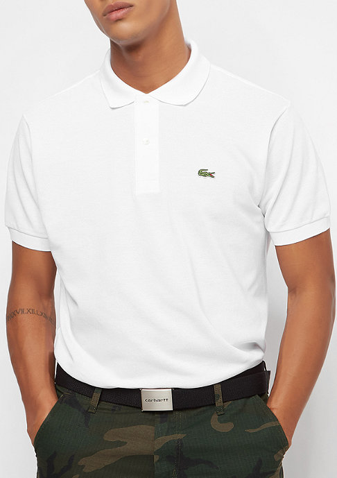 Lacoste Short Sleeved Ribbed Collar Shirt white
