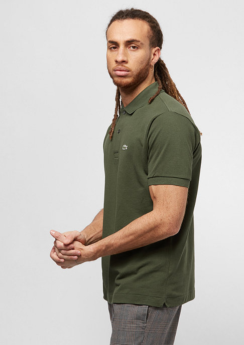 Lacoste Short Sleeved Ribbed Collar Shirt boscage