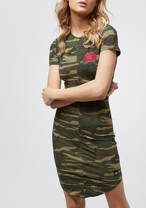 Sixth June Camo With Red Flower green camo