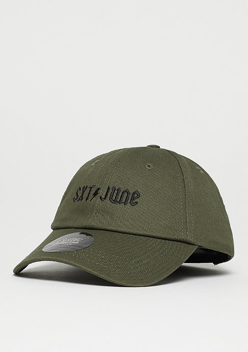 Sixth June Curved Cap green