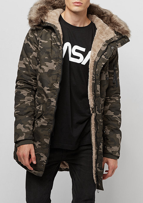 Sixth June Fur Parka camo/beige