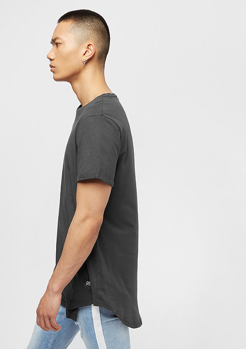 Sixth June Regular Tee With Rounded Bottom stone black