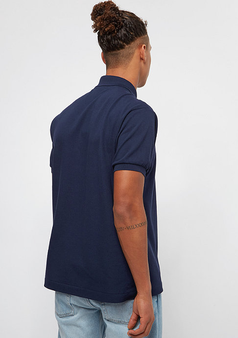Lacoste Sleeved Ribbed Collar Shirt navy blue