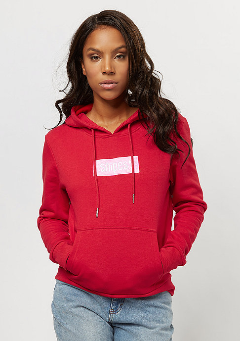 small box logo red hoodie von snipes bestellen. Black Bedroom Furniture Sets. Home Design Ideas