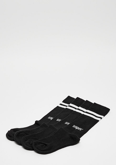 SNIPES Striped Tube Socks 2PK black white