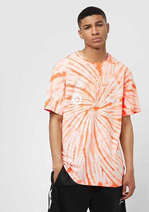 Converse Tie Dye Multi Graphic tangelo