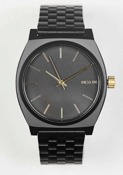 Nixon Uhr Time Teller matte black/gold