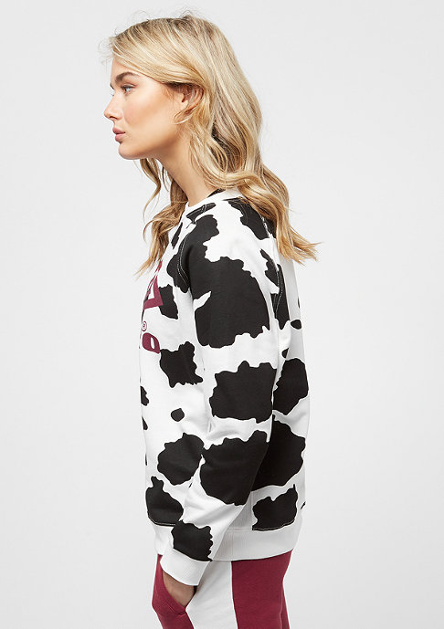 Umbro Cow Print Crew Sweat black/white