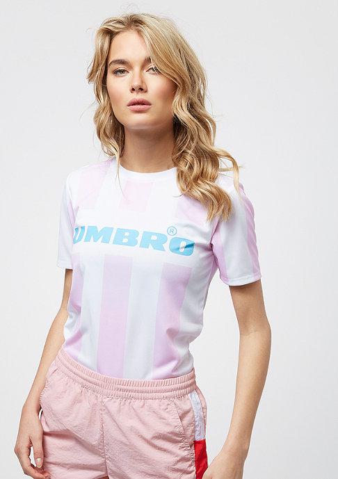 Umbro Stripy Tee white/pink/blue