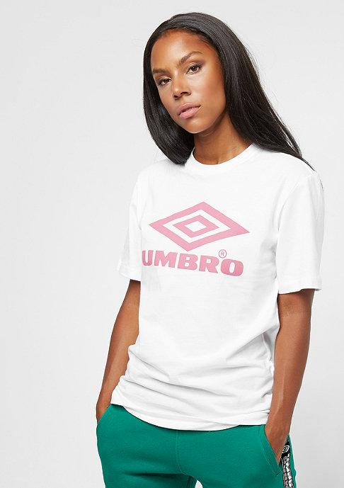 Umbro Wmn Boyfriend Fit Logo Tee white/blush