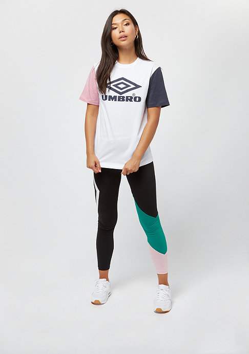 Umbro wmn Projects Tricol Tee white/blush/blue nights