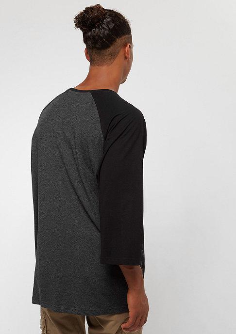 Urban Classics Oversize Contrast 3/4 Sleeve charcoal/black
