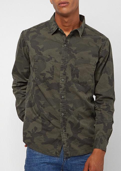 Urban Classics Camo Shirt olive camo