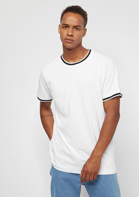 Urban Classics College Pocket Tee white black