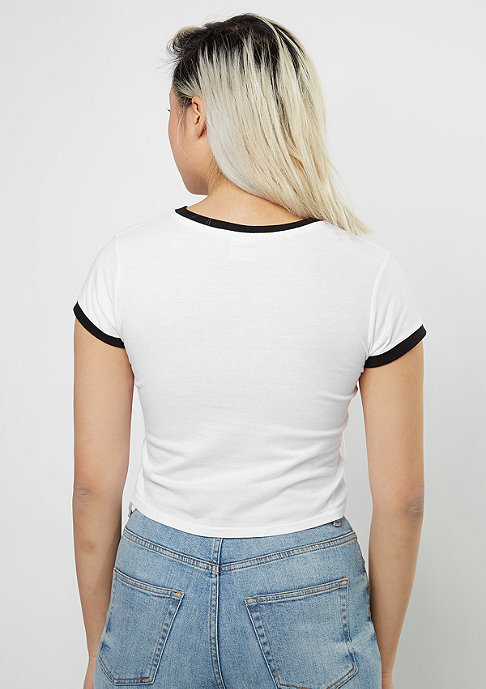 Urban Classics Cropped Ringer white/black