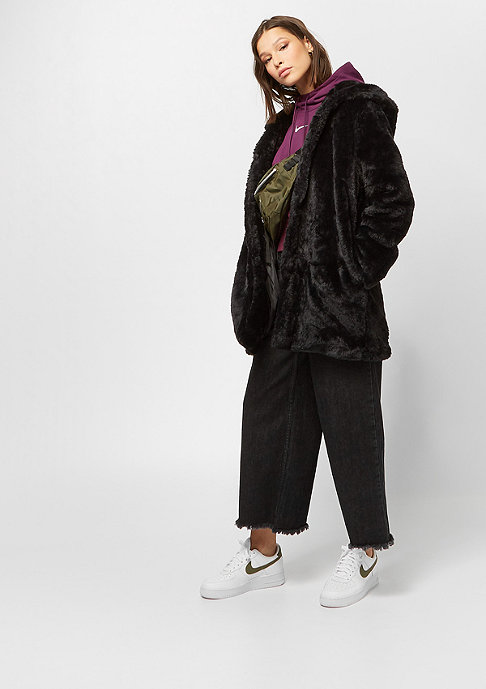 Urban Classics Hooded Teddy Coat black