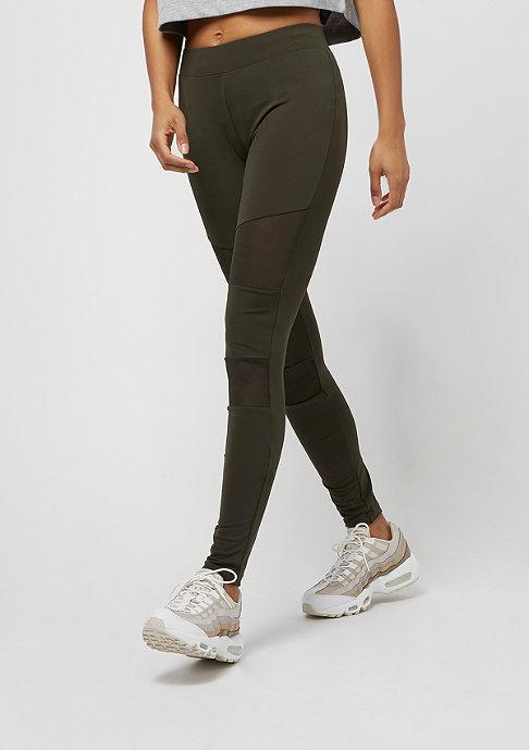 Urban Classics Ladies Tech Mesh Leggings dark olive