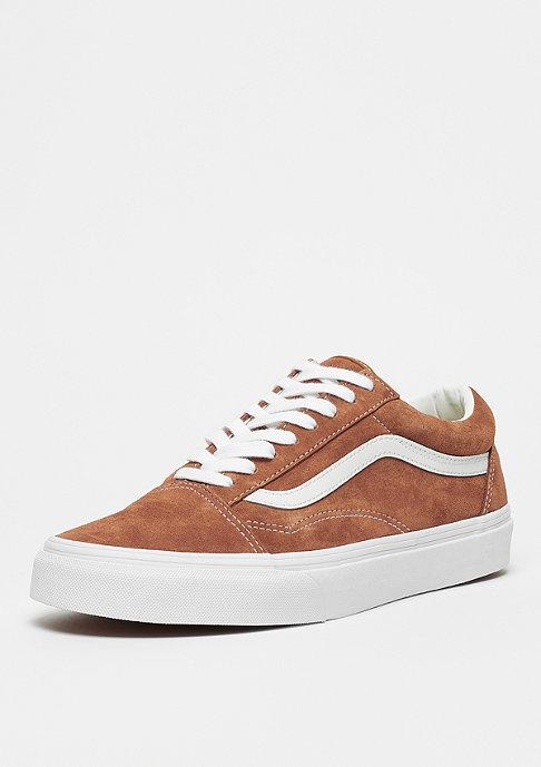 VANS Old Skool leather brown/true white