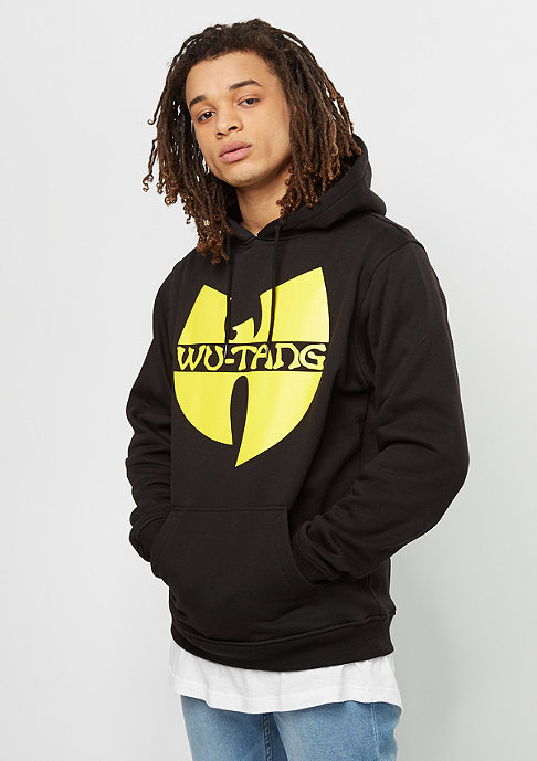 Wu-Wear Hooded-Sweatshirt Wu-Logo heather black/yellow