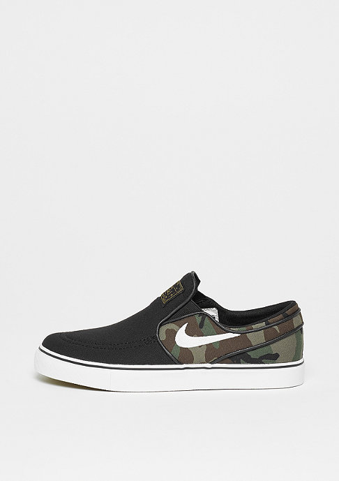 NIKE SB Stefan Janoski Canvas Slip (GS) black/black-gum light brown