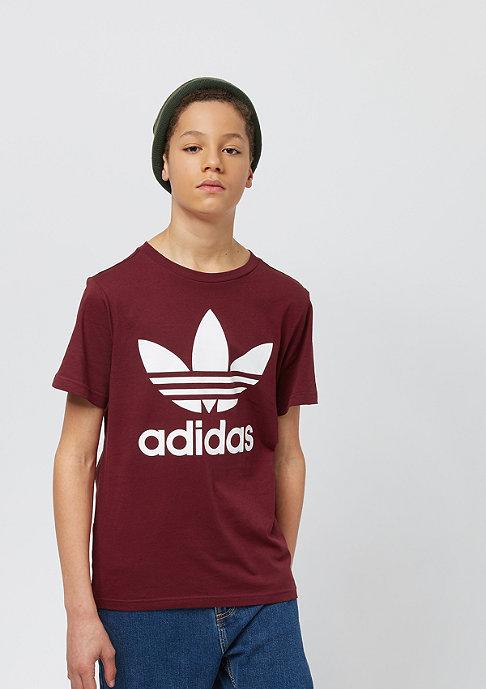 adidas Kids Trefoil collegiate burgundy/white