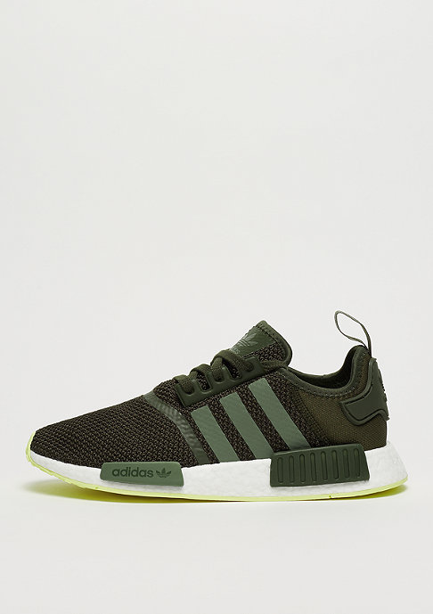 adidas NMD R1 night cargo/base green/semi frozen yellow