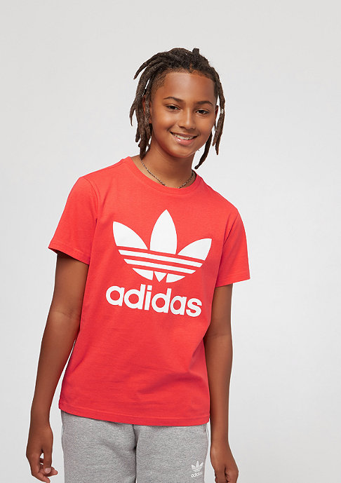 adidas Junior Trefoil bright red/white