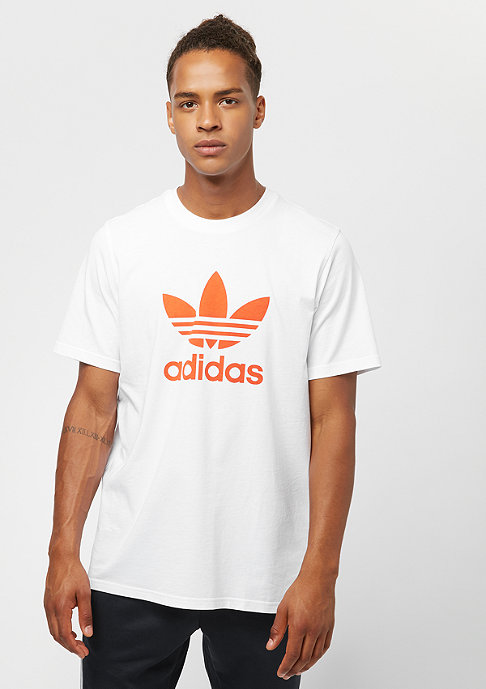 adidas Trefoil white/craft orange