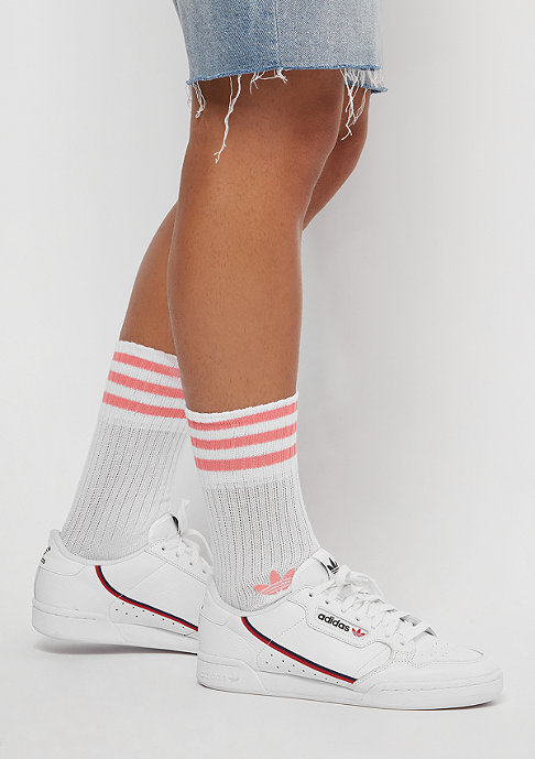 adidas Solid Crew 2PP maroon/white/white/rose