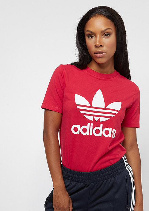 adidas Trefoil real red