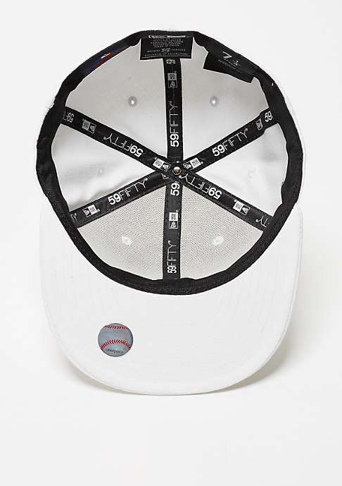New Era Fitted-Cap 59Fifty White On White MLB New York Yankees white