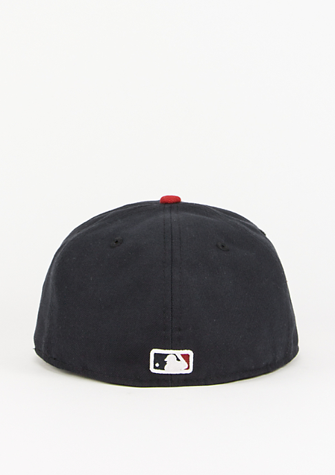 New Era Fitted-Cap MLB Authentic Braves navy/red