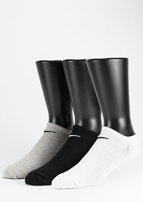NIKE Sportsocke Value No Show 3Pack white/grey/black