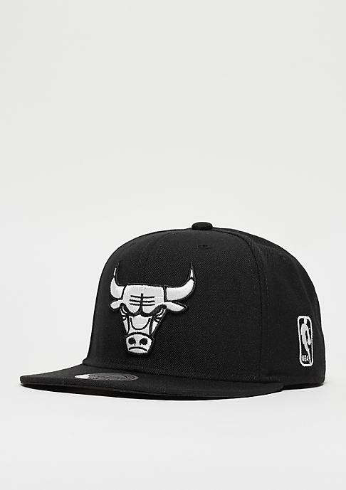 Mitchell & Ness Snapback-Cap Black & White NBA Chicago Bulls