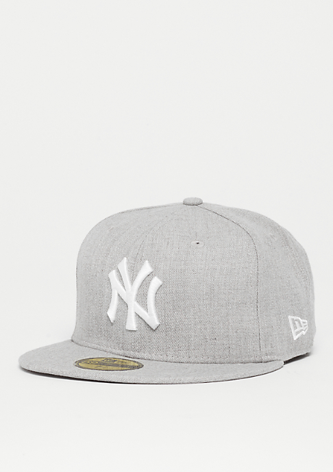 New Era Fitted-Cap 59Fifty Basic MLB New York Yankees heather grey