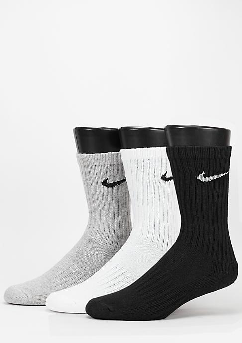 NIKE Sport-Socke Value Cotton Crew 3Pack grey heather/black/white