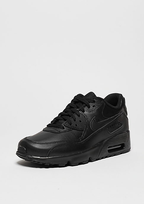 NIKE Air Max 90 Leather (GS) black/black