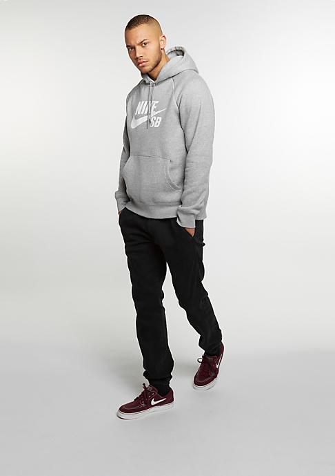 NIKE SB Hooded Sweatshirt Icon dark grey heather/white